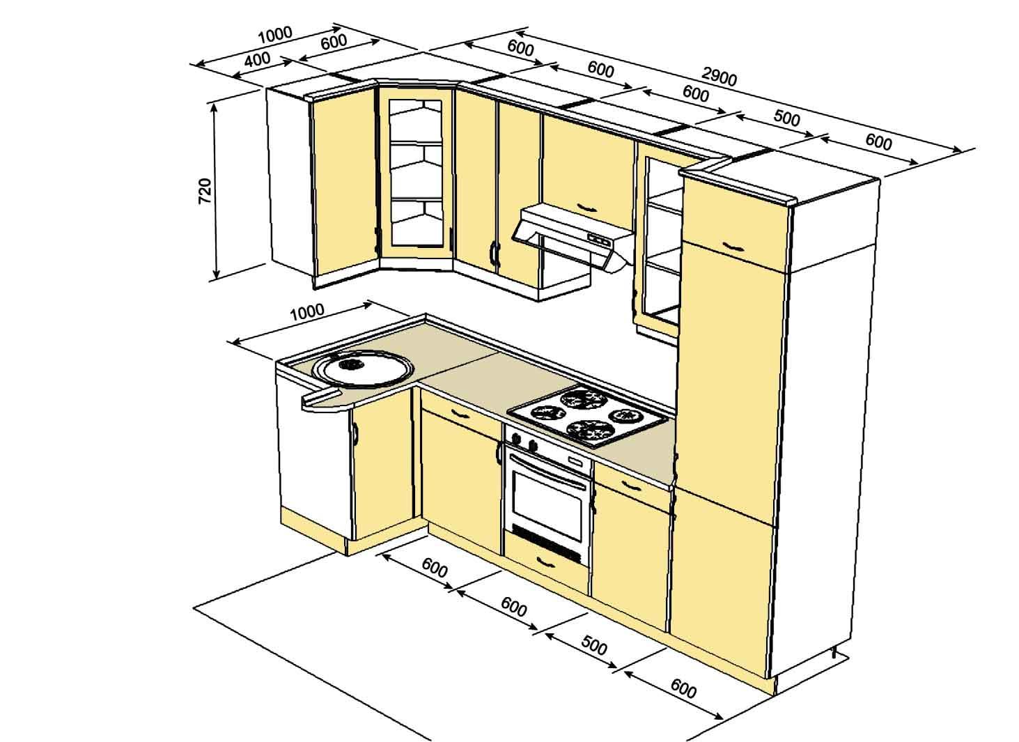 Кухонный гарнитур своими руками чертежи и схемы фото