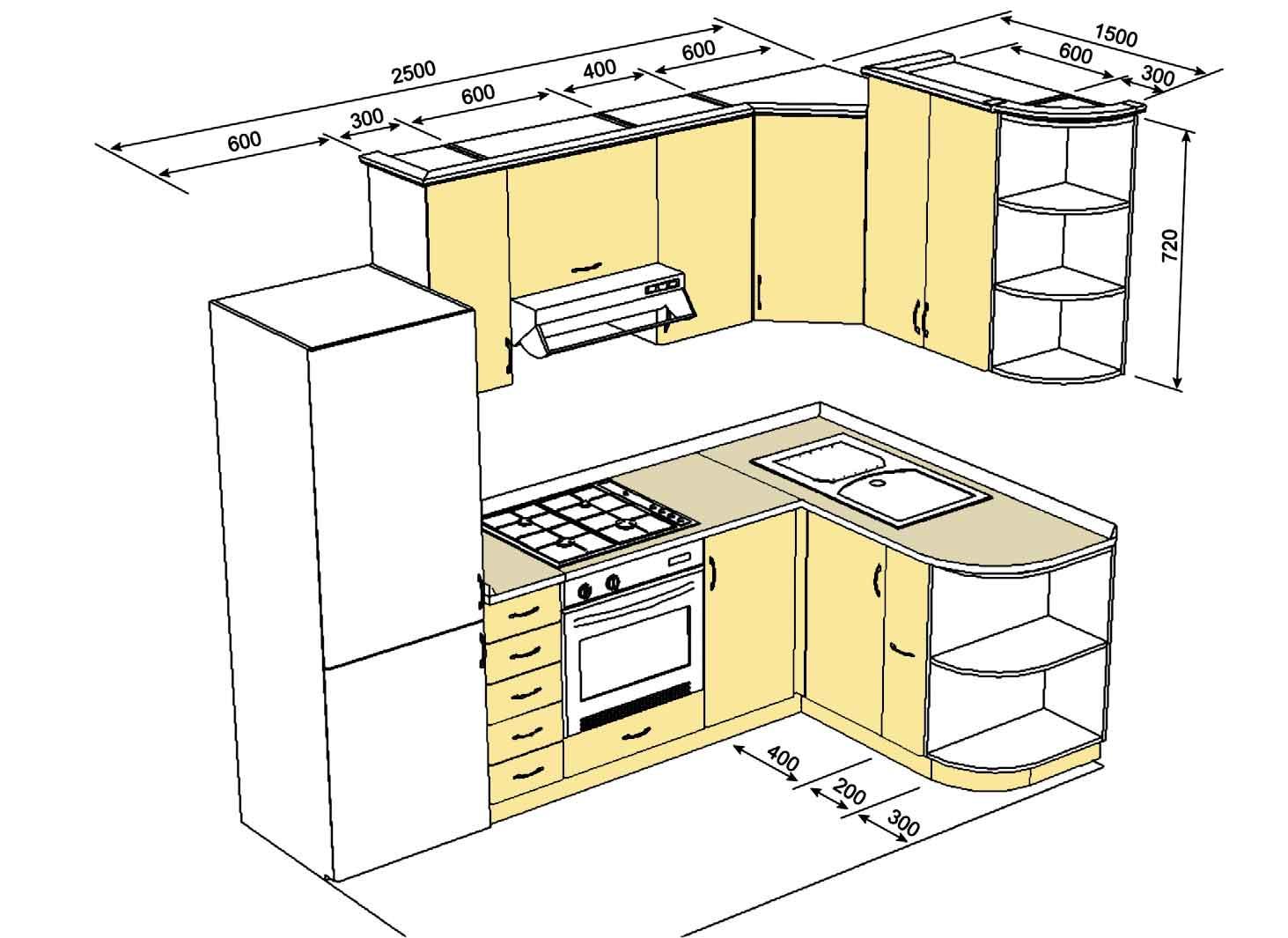 Кухни проекты схемы чертежи